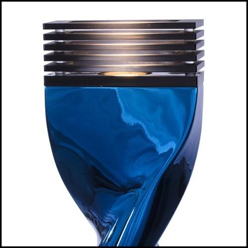 Bouts de Canapé avec branches de bois flotté brûlé saisies dans du verre acrylique PC-Kisimi Burnt Branches A