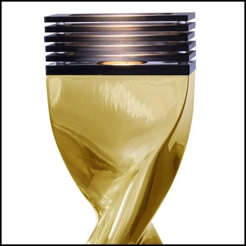 Bouts de Canapé avec branches de bois flotté brûlé saisies dans du verre acrylique PC-Kisimi Burnt Branches B