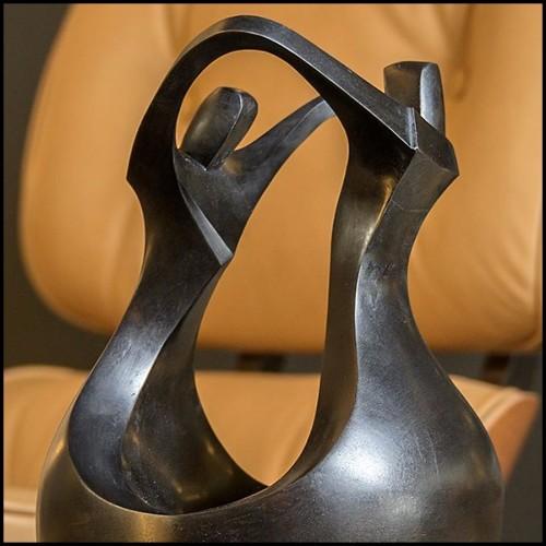 Fauteuil avec tissu velours bleu ou velours rouge avec contour de base finition gold 162-Blue Wing Right