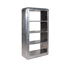 Shelf with structure in riveted polished aluminium 22-Dakota
