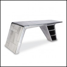 Desk wing aircraft fighter in riveted aluminium 22-Aviator