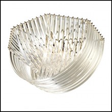 Plafonnier avec structure en acrylique transparent et finitions en nickel 24-Murano Ceiling Lamp