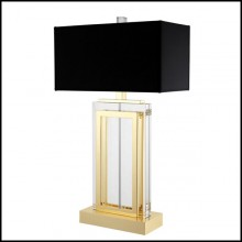 Lampe de salon avec finition or et verre crystal 24-Carlton Table Lamp