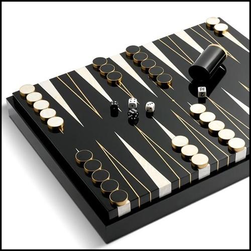 Fauteuil couvert avec véritable peau de zèbre de Burchell avec cornes naturelles véritables PC-Zebra Black