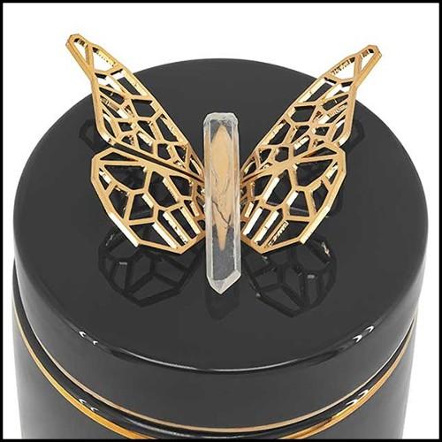 Applique finition gold ou finition nickel avec verre clair 24-Bubbles