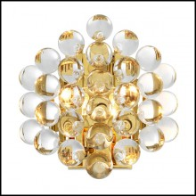 Wall Lamp in gold finish or nickel finish with clear glasses 24-Bubbles