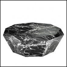 Coffee table with structure in black resin marble 24-Sena Cuadra Coffee Table