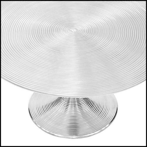 Buffet avec structure en placage de chêne anthracite acier finition black nickel et plateau en verre clair 24-Domino