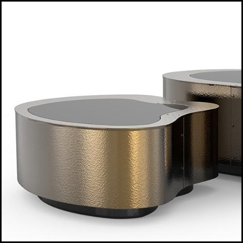 Applique avec structure finition Gold ou Nickel et verre clair 24-Tilly