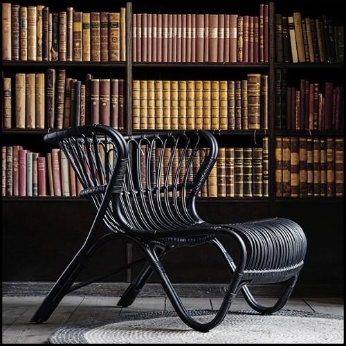 Table d'appoint avec base en nickel et plateau bois pétrifié et peinture noire brillante 24-Petrified Wood
