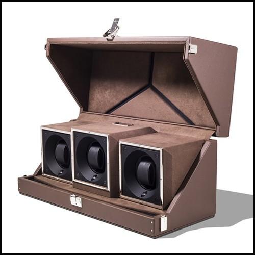 Applique avec structure en laiton finition Gold ou nickel et verre clair 24-Arcanta L