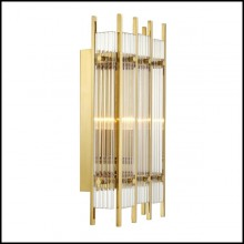 Wall lamp with brass structure in gold finish or nickel finish and clear glass 24-Arcanta M