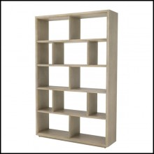 Bookcase with structure in washed oak veneer 24-Marguesa
