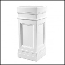 Column with structure in solid wood and piano white finish 24-Fanfan White