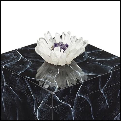 Canapé couvert avec véritable peau de crocodile du Nil et cornes de Koudou PC-Crocodile Brown