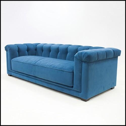 Table d'appoint avec base en métal polyèdres brut et bois d'acajou massif 119-Kalan