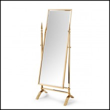 Mirror reclining in gold finish 162-Self Portrait