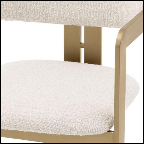 Table basse avec structure en marbre résine noire et bord et base finition en laiton brossé 24-Barone