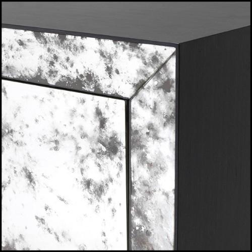 Table basse avec structure en acier inoxydable finition bronze rose 24-ZEN