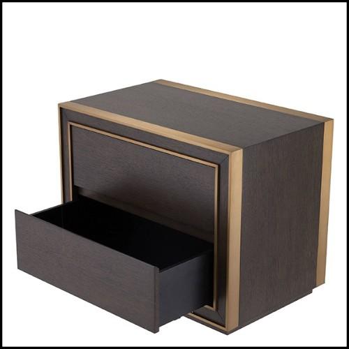 Stool upholstere with roche orange velvet and brushed brass base 24-Dreamer Orange