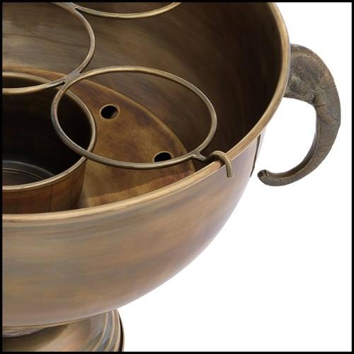 Stool upholstere with roche teal blue velvet and brushed brass base 24-Dreamer Blue