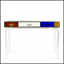Console with structure in rosewood and with lacquered top 145-Multi Finishes