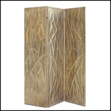 Folding screen with each panels in antique finish metal 162-Scales