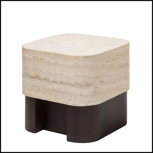 Table d'appoint avec plateau en marbre noir 157-Smartly