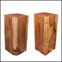 Set of two columns in handcrafted Molave wood polished and waxed PC-Molave Wood