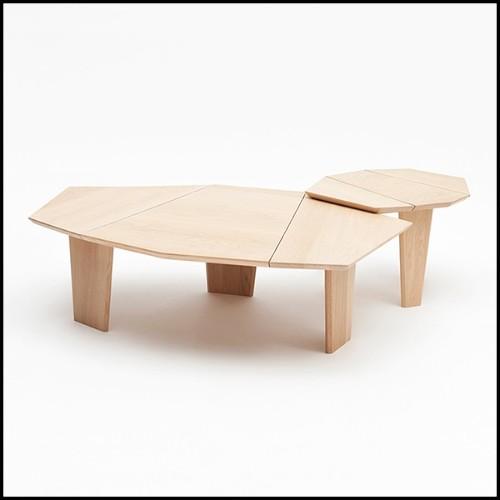 Console avec base en fibre de résine peint avec des feuilles d'or 155-Andore