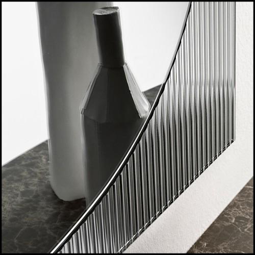 Miroir avec structure en bois d'acajou massif et miroir en verre biseauté 119-Lacet