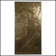 Wall decoration all made in antique brass 119-Couple