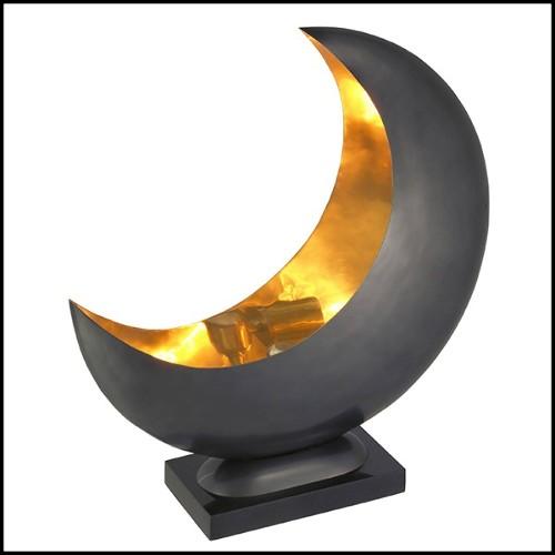 Miroir en bois d'acajou massif laqué et vernis finition Gold 145-Oversized Gold