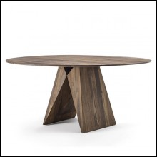 Table en noyer massif avec nervures 154-Bridge