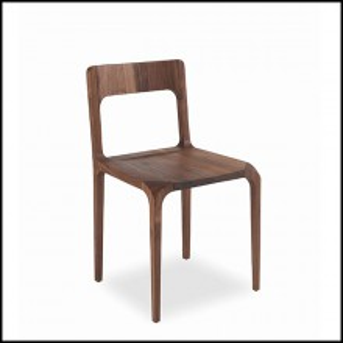 Chaise en bois de noyer massif sculpté à la main 154-Refined