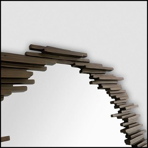 Table de chevet ou table d'appoint en bois d'acajou massif sculpté à la main 119-Thomas