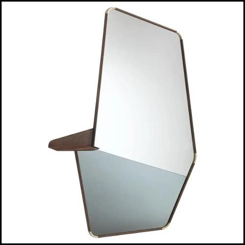Table d'appoint avec structure en bois d'acajou massif finition laquée Ivoire 119-White Leaves