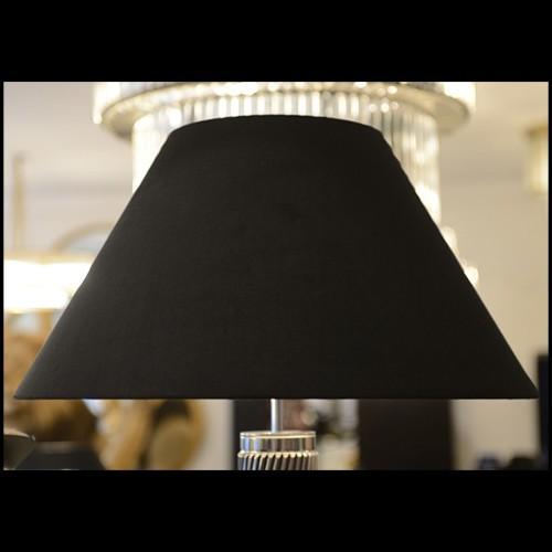 Table d'appoint avec structure en bois laqué noir et plateau en marbre brun 164-Emperador