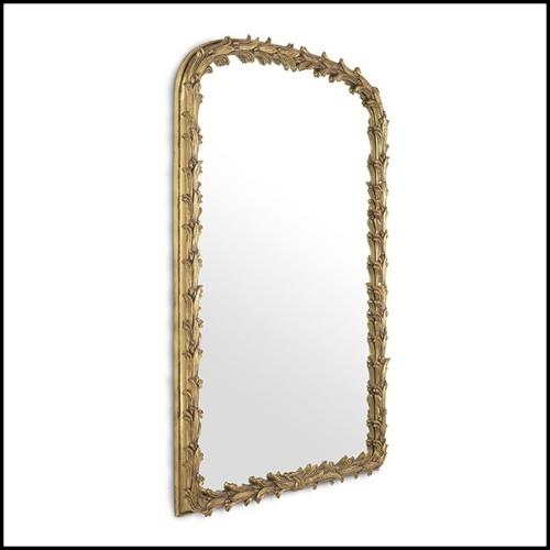 Vase en verre clair soufflé à la main avec 3 raies Manta en étain satiné 104-Ray