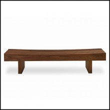 Bench with structure in solid walnut wood 154-Nipokawa