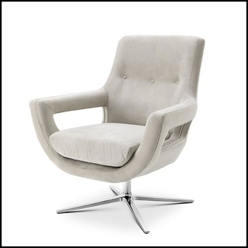 Set de 2 tables d'appoints en forme de pieds d'éléphant avec structure en bois massif et plateau en bois rond 38-Elephant