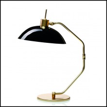 Table lamp with polished brass base and arm 165-Miles