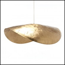 Suspension tout en laiton massif mat 30-Leaf Gold