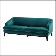 Sofa upholstered with Savona sea green or Savona midnight blue velvet 24-Montag