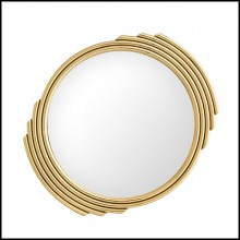 Mirror with stainless steel frame in gold finish or polished finish and mirror glass 24-Lino