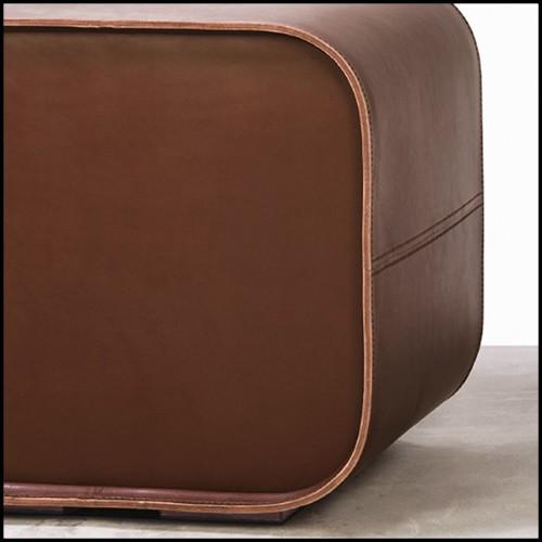 Table basse avec toute la structure en fer forgé avec finitions Gold 107-Quadruple Round