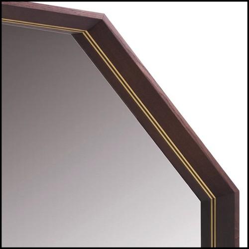 Miroir en verre miroir fondu à haute température avec cadre en métal peint vernis et dos argenté 146-Kinky Rectangulaire