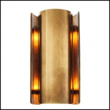 Wall Lamp with structure in steel with vintage brass finish or nickel finish 24-Vertige
