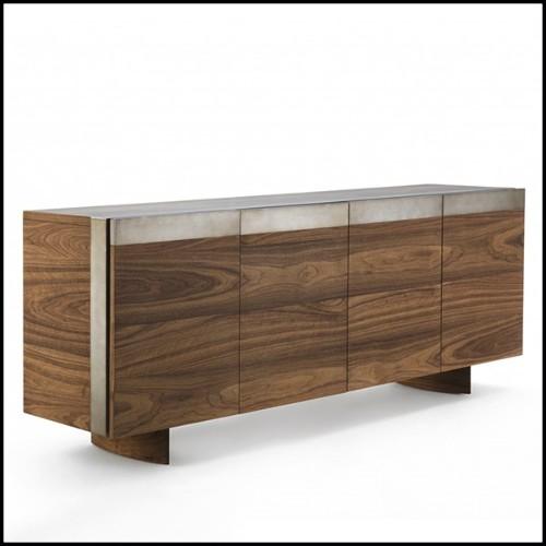 Table d'appoint moulée dans une plaque de verre clair incurvée de 12 mm d'épaisseur146-Initial