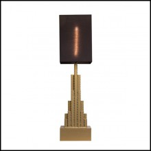 Table Lamp with structure hand-crafted in forged iron 167-Empire State